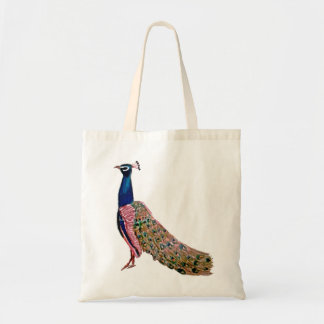Peacock Tote Budget Tote Bag