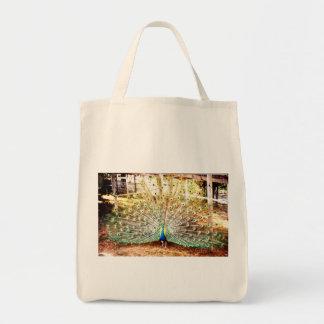 Peacock, Tote Grocery Tote Bag