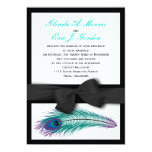 Peacock Tuxedo Wedding Invitation