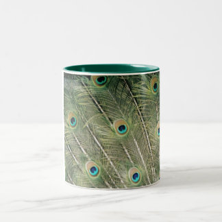 peacock Two-Tone coffee mug