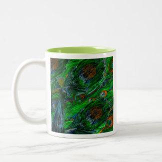Peacock. Two-Tone Coffee Mug