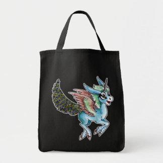 Peacock Unicorn Canvas Bags