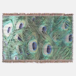 Peacock Waterfalls Throw Blanket
