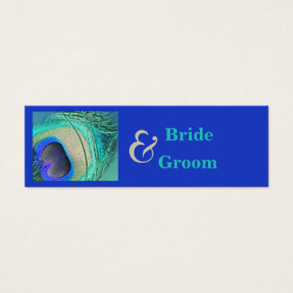 Peacock Wedding Favor Tag