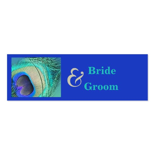 Peacock Wedding Favor Tag Business Cards