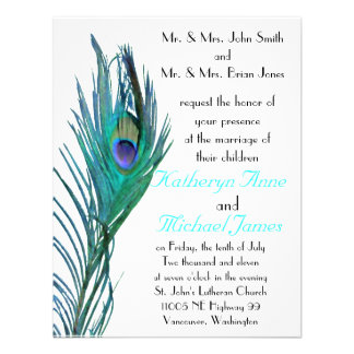 Peacock Wedding Invitation 2