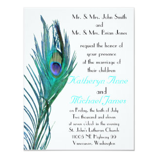 Peacock Wedding Invitation #3
