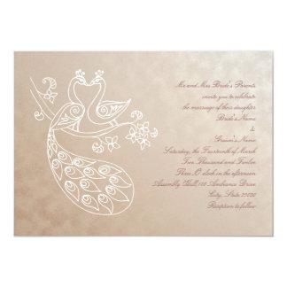 Peacock Wedding invitation, Alpana style