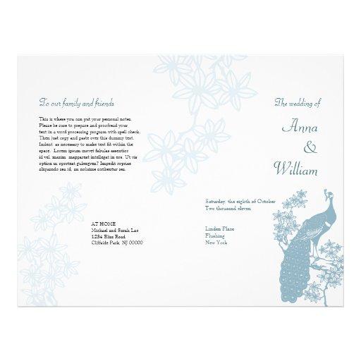 Peacock Wedding Program Flyer