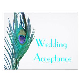 Peacock Wedding Response #2 11 Cm X 14 Cm Invitation Card