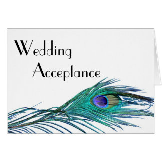 Peacock Wedding Response Card (with Entrée Choice)