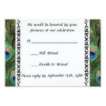 Peacock Wedding RSVP 9cm X 13cm Invitation Card