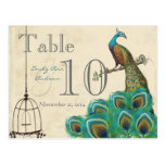 Peacock Wedding Table Number