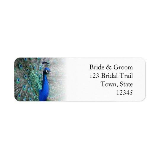 Peacock Wedding Theme 1 Return Address Label