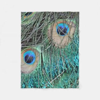 Peacock Wheat Fleece Blanket