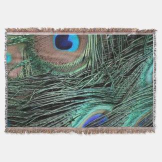 Peacock Wheat Throw Blanket