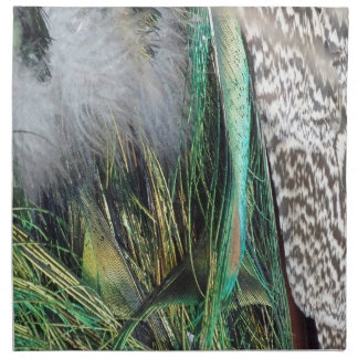 Peacock With New Feather Growth Napkin