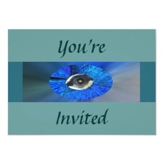 "Peacock's Eye, 5"" X 7"" Invitation Card"