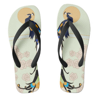 Peacocks Flip Flops