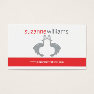 PEACOCKS FLOURISH in GRAY Business Card