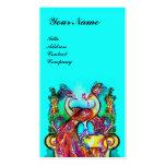 PEACOCKS IN LOVE MONOGRAM,red aqua blue turquase