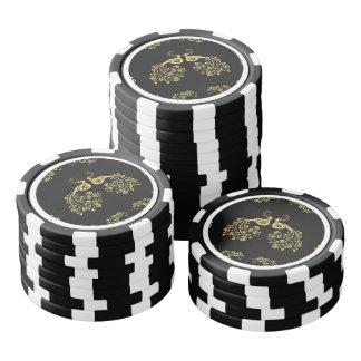 Peacocks in Love Poker Chips