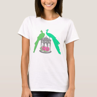 Peacocks on cage T-Shirt