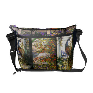 Peacocks Stained Glass Rickshaw Messenger Bag