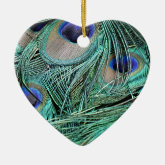 Peafowl Feathers Green And Blue Eyes Christmas Ornament