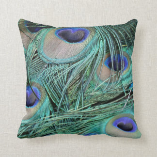 Peafowl Feathers Green And Blue Eyes Cushion