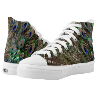 Peafowl Feathers High Tops