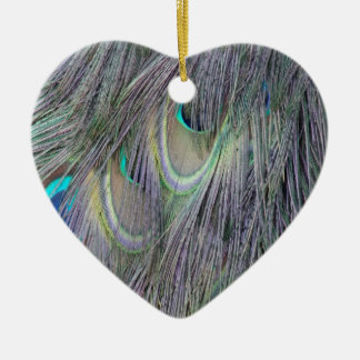 Peafowl Feathers Out Standing  Colors Christmas Ornament