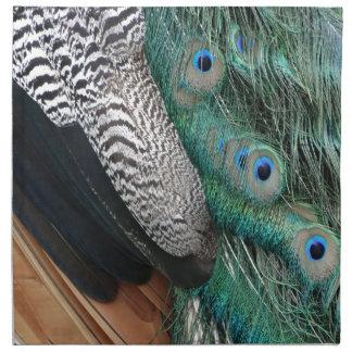 peafowl feathers small eyes napkin