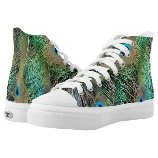 Peafowl Feathers True Colors New Growth High Tops