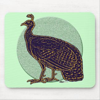 Peafowl Impressionistic Congo Hen Mouse Pad