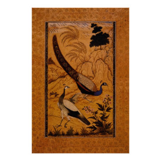 Peafowl in a Landscape by Ustad Mansur Posters