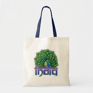 Peafowl of India Budget Tote Bag