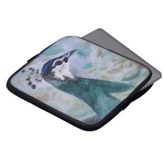 Peahen Portrait Laptop Sleeve