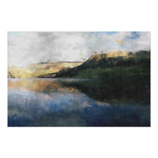 Peak District Reflections Poster