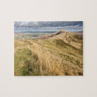 Peak District view from Mam Tor souvenir photo Jigsaw Puzzle