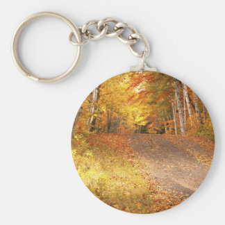 Peak Fall Foliage Season in the U. P. Key Ring
