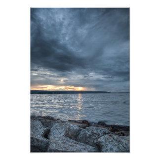 Peak of sundown photo print