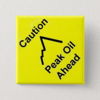 Peak Oil Chart 15 Cm Square Badge