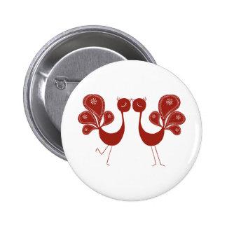 Peakcock Love 6 Cm Round Badge