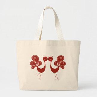 Peakcock Love Canvas Bag