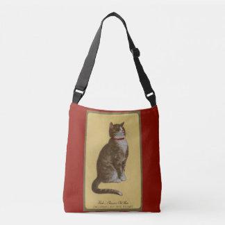 Peake, Chessie's Old Man tomcat tabby cat Crossbody Bag
