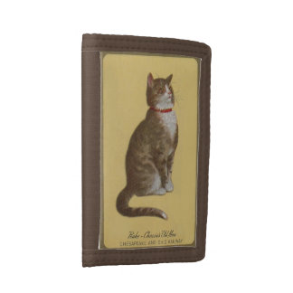 Peake, Chessie's Old Man tomcat tabby cat Tri-fold Wallet
