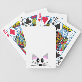 Peaking Kitten Bicycle Playing Cards