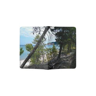 Peaking through trees passport holder