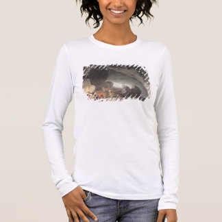 Peaks Hole, Derbyshire (colour engraving) Long Sleeve T-Shirt